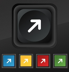 Arrow expand full screen scale icon symbol set of vector