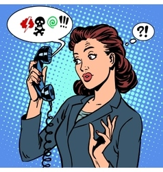 Dangerous talk phone communication viruses vector