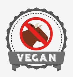 Vegan product design vector