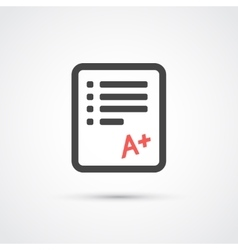 Test paper trendy flat icon vector image
