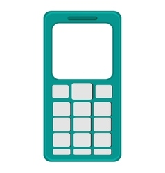 Cellphone with buttons vector