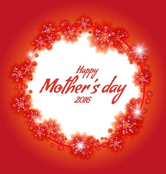 Congratulations frame to the mothers day vector