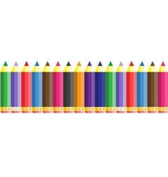 Abstract color seamless school pencil pattern vector