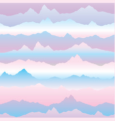 abstract wavy mountain skyline background nature vector image