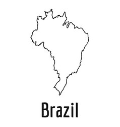 brazil map thin line simple vector image