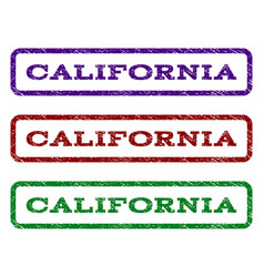 california watermark stamp vector image vector image