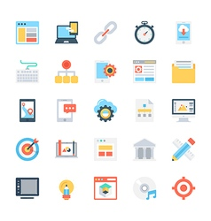 Design and Development Colored Icons 1 vector image vector image