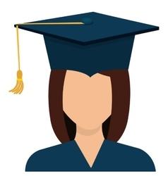 Female student graduation avatar profile vector