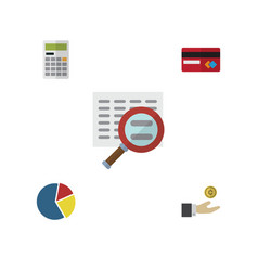flat icon incoming set of payment hand with coin vector image