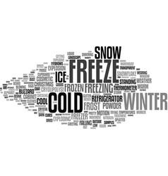 Freeze word cloud concept vector