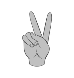 Gesture victoria icon black monochrome style vector