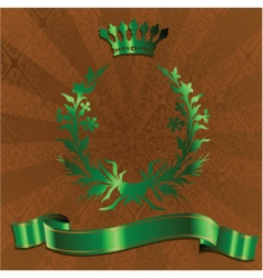 green king crown vector image vector image