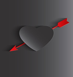Happy Valentines day cards with heart and arrow vector image vector image