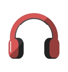 headset audio device isolated icon vector image