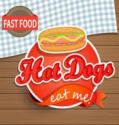 Hot dog concept vector