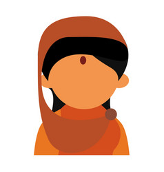 Indian woman cartoon vector