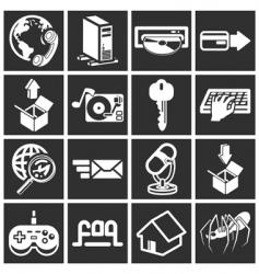 Internet web icon vector