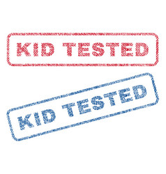 Kid tested textile stamps vector