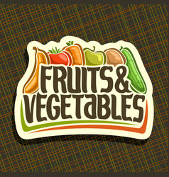 Logo for fruits and vegetables vector