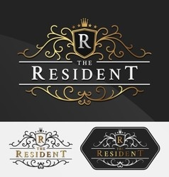 Luxurious Royal Logo Re-sizable Design Template vector image vector image