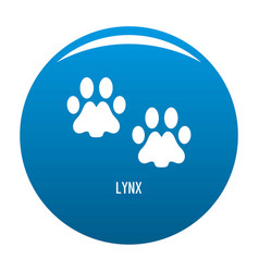 Lynx step icon blue vector