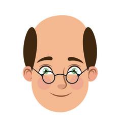 Man cartoon face male facial expression vector