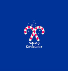 merry christmas sweets icon vector image
