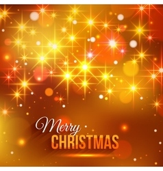 Merry Christmas typographical background with vector image