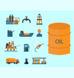 mineral oil petroleum extraction production vector image vector image