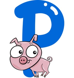 P for pig vector image