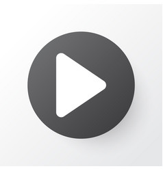 Play icon symbol premium quality isolated begin vector