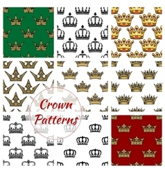 Royal crown seamless pattern background vector