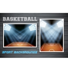 Set backgrounds of basketball stadium vector