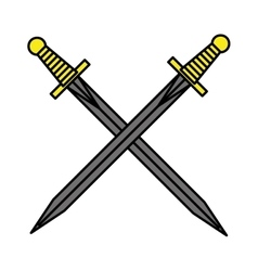 sword drawing tattoo style isolated icon vector image vector image