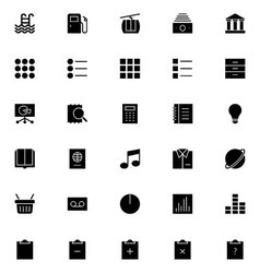 Universal mobile line icons 6 vector
