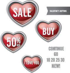 Valentine Buttons vector image