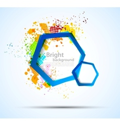 Bright colorful background with hexagons vector