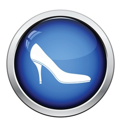 Middle heel shoe icon vector