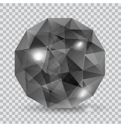 Black translucent crystal vector