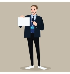 hiring recruitment business man holding sign vector image