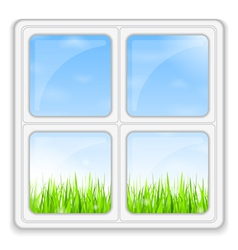 Summer behind the Window vector image