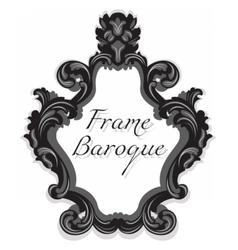 Baroque rococo mirror frame set vector