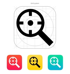 Magnifier crosshair icon vector