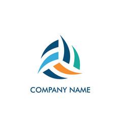 circle shape abstract company logo vector image