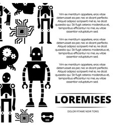 Robots cyborgs and chips poster design vector