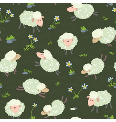 Pattern with sheeps vector