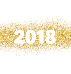 2018 glitter typography design isolated on white vector image