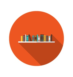 Book shelve flat icon vector