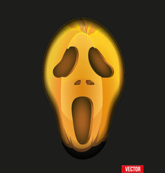 Pumpkins fear face for halloween background or vector