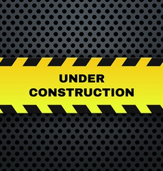Under construction banner vector